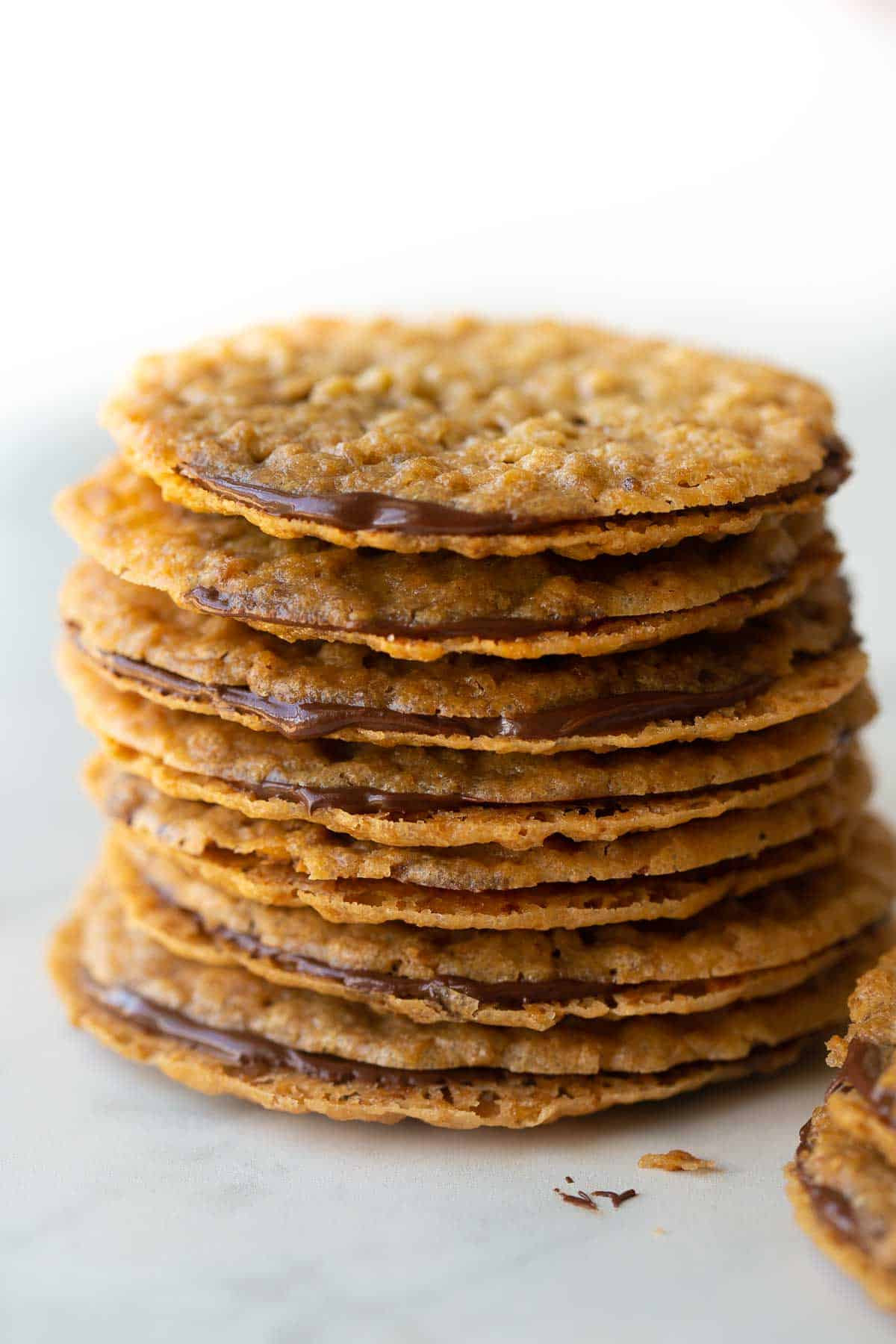 up close stack of cookies
