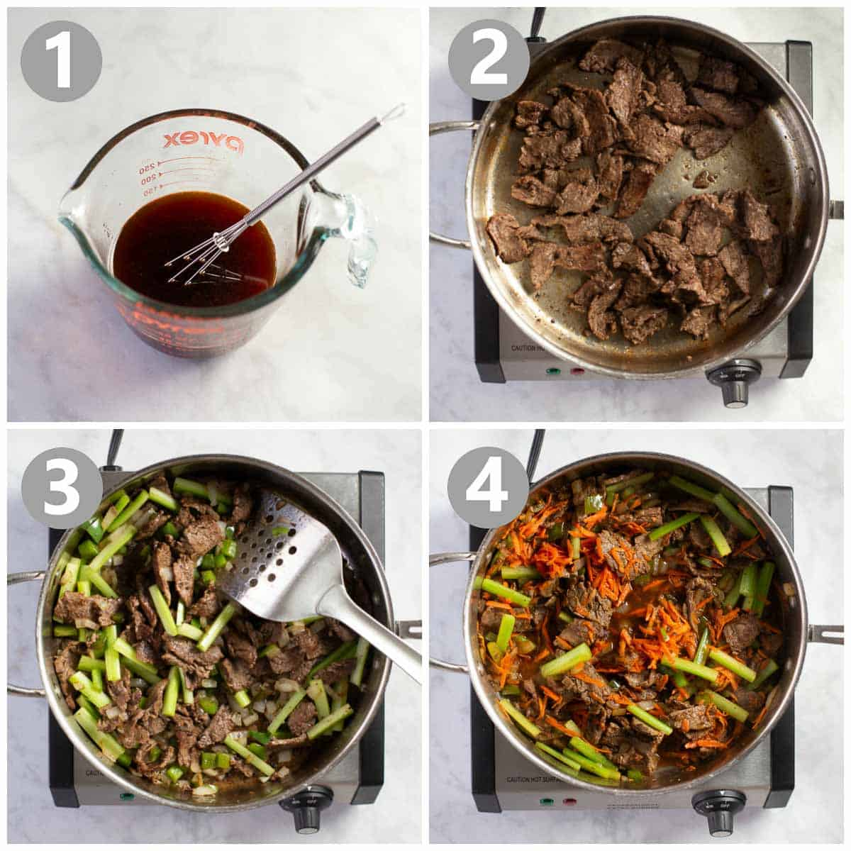 steps for making this recipe for stir fry beef
