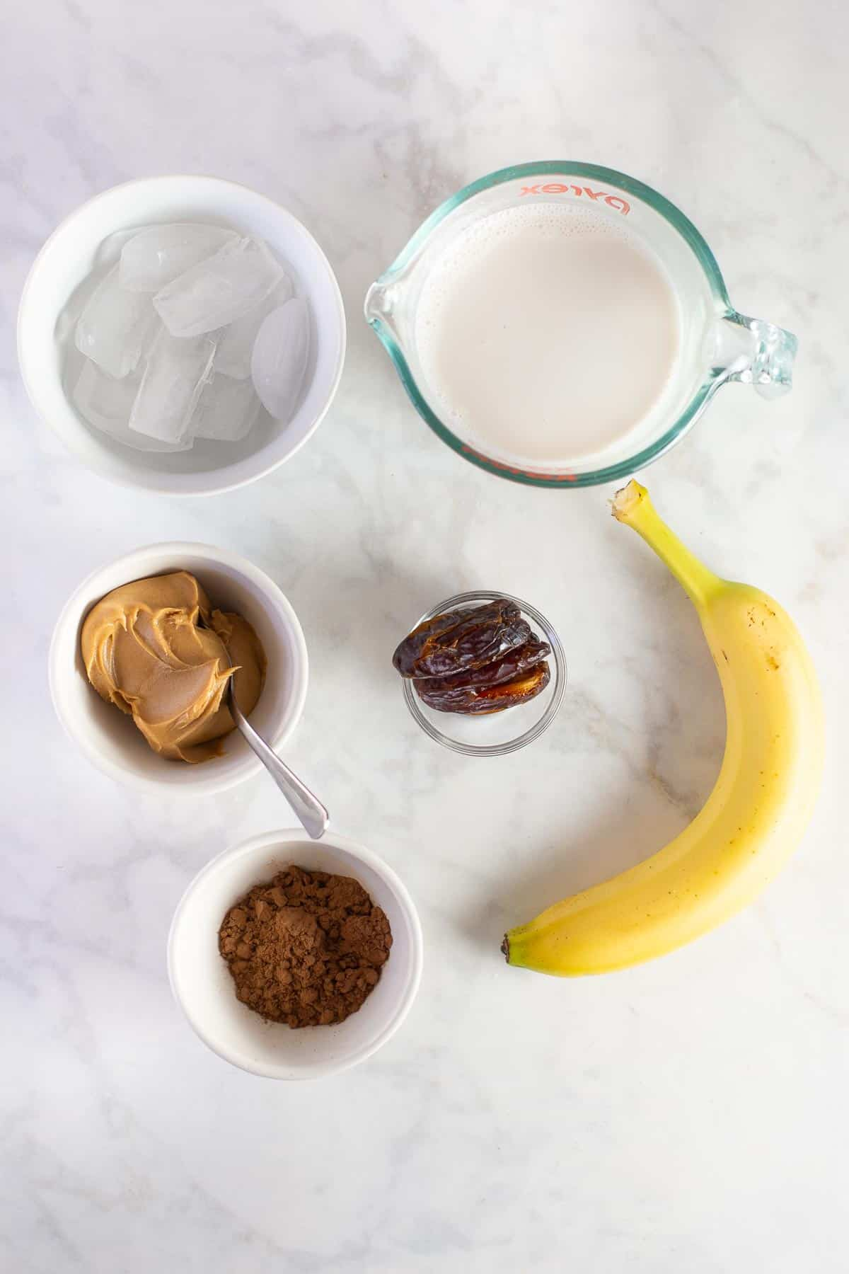 Chocolate Peanut Butter Banana Smoothie Meaningful Eats