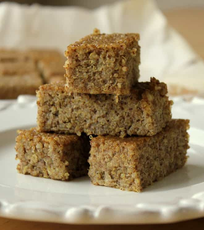 Cinnamon Quinoa Bake! Healthy, Protein-Packed Bars that taste like french toast!