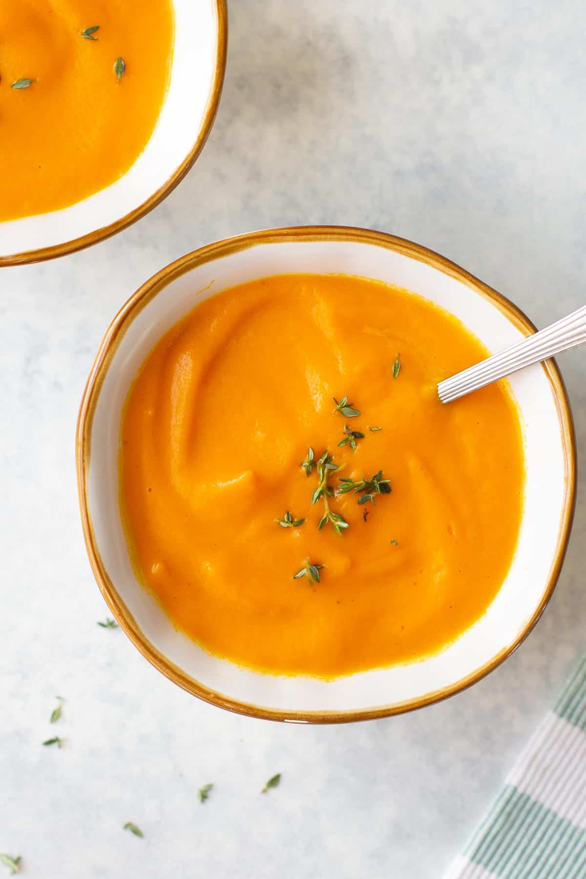 creamy pureed vegetable soup with carrots