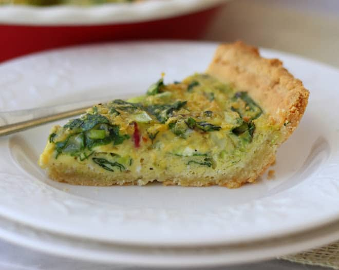 Leek & Swiss Chard Quiche {Dairy-Free, Paleo} - Meaningful Eats