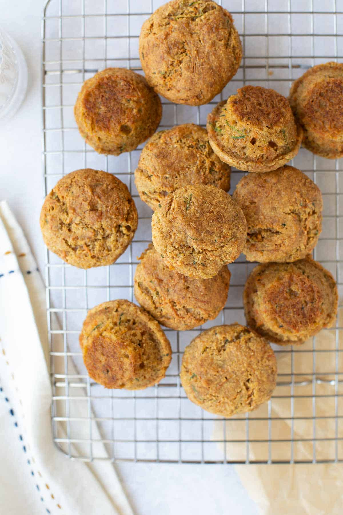Toddler muffins packed with carrots and zucchini