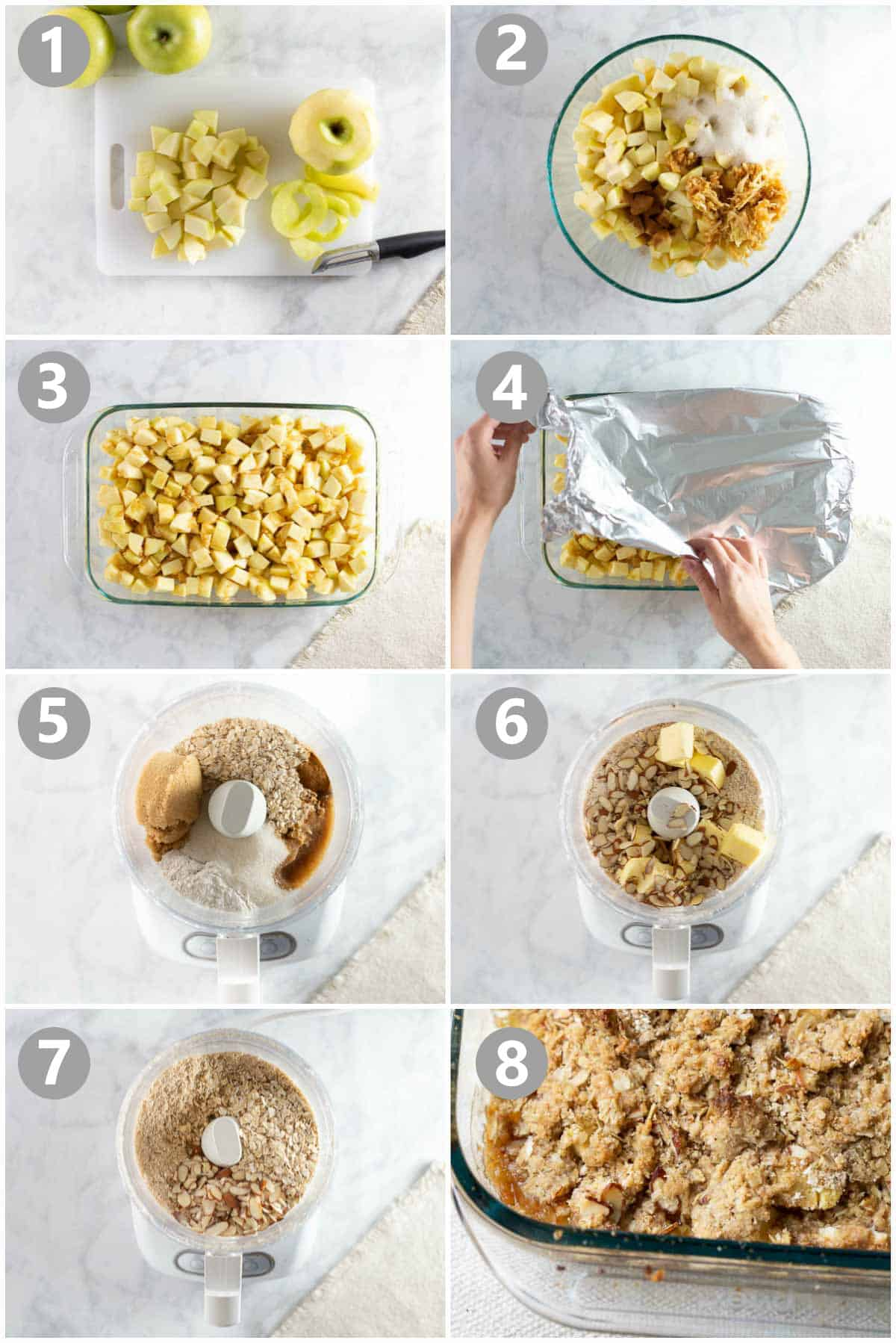 step by step photos of how to make apple crisp