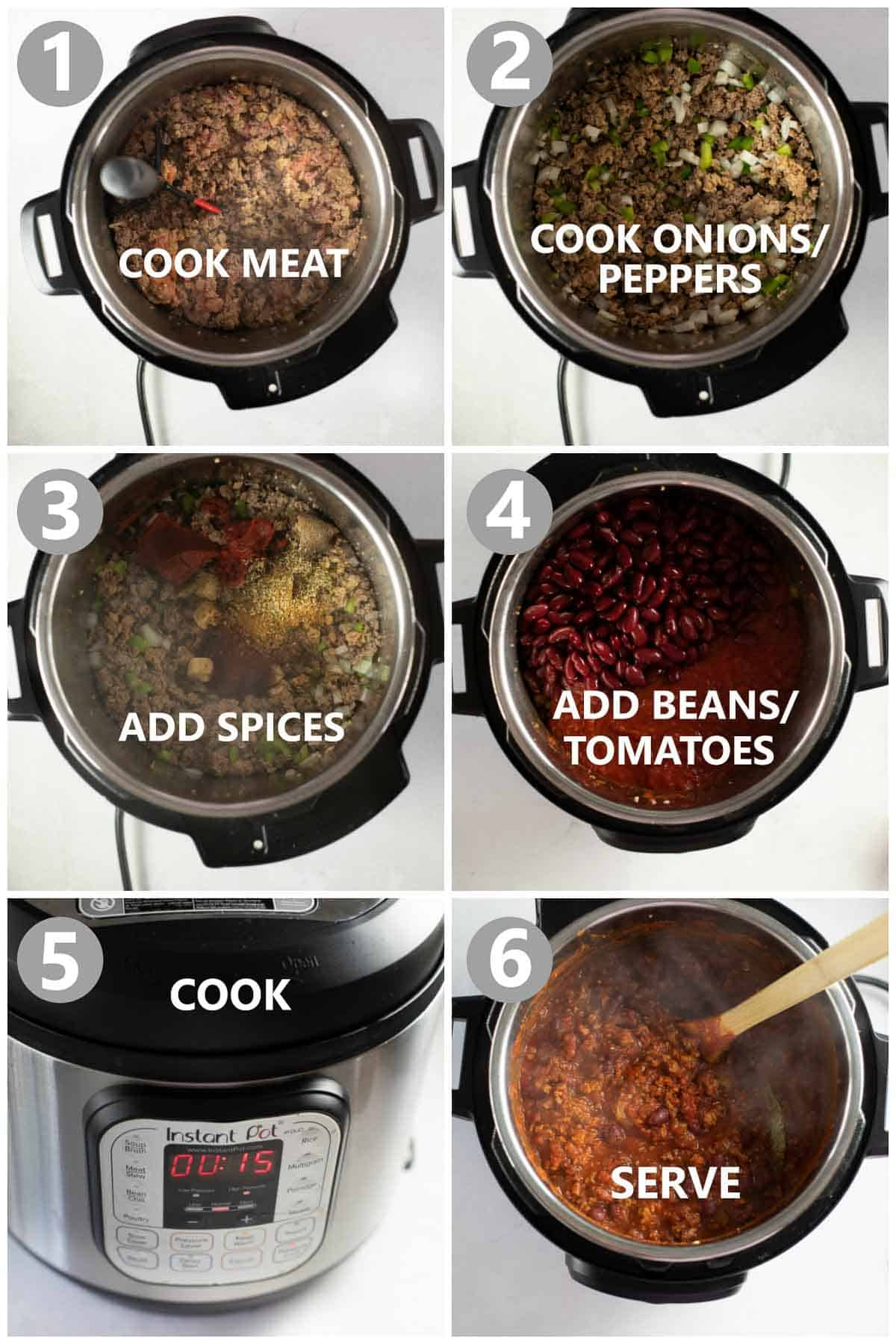 step by step photos of how to make gluten-free chili