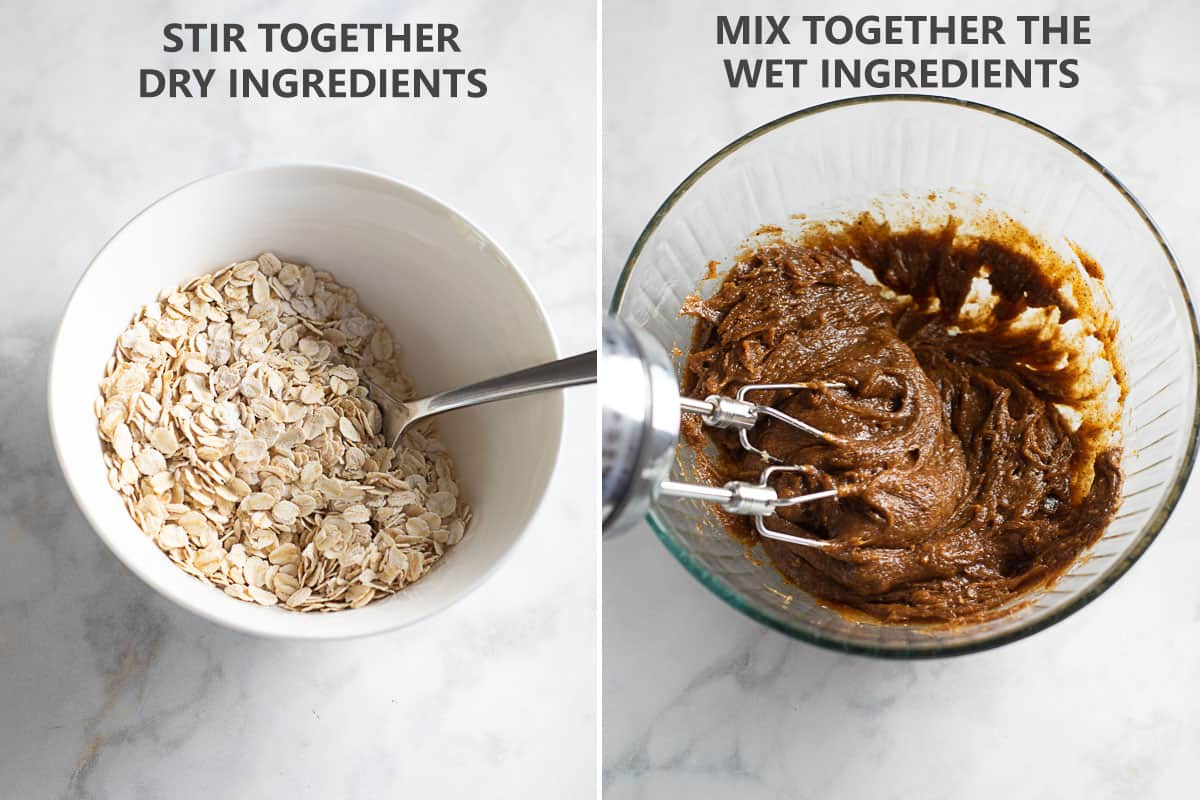 how to mix together the dry and wet ingredients
