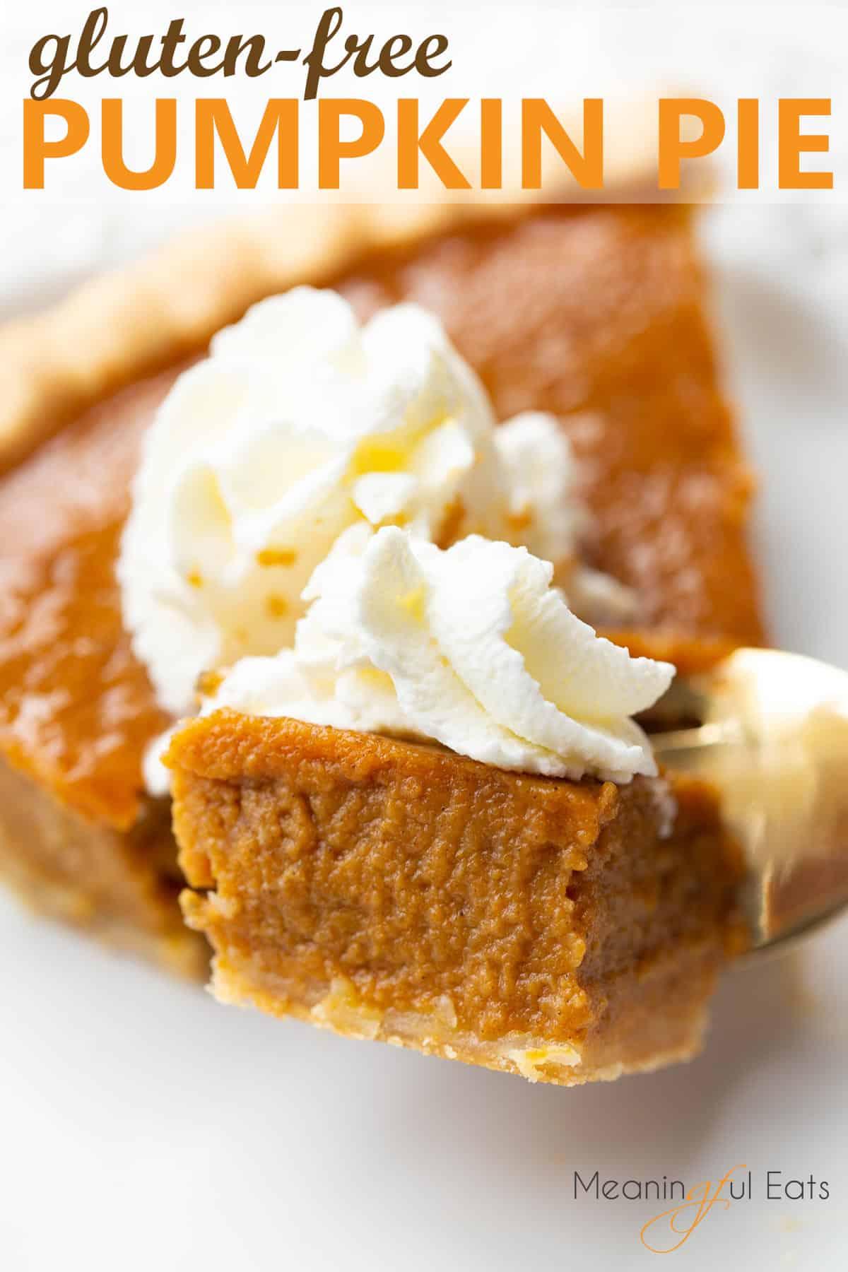 Image for pinterest of pumpkin pie