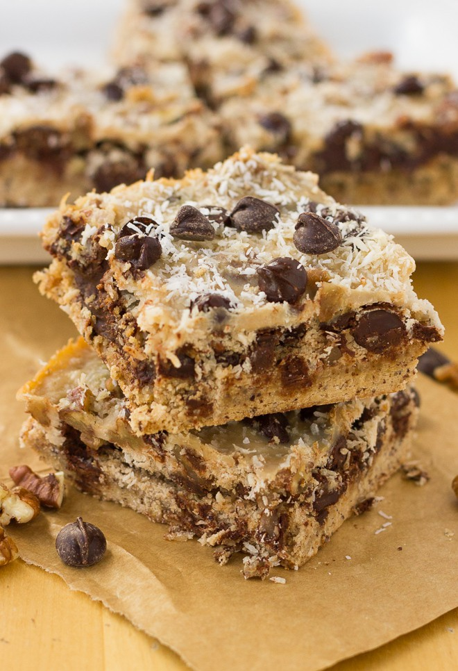Stack of two cookie bars