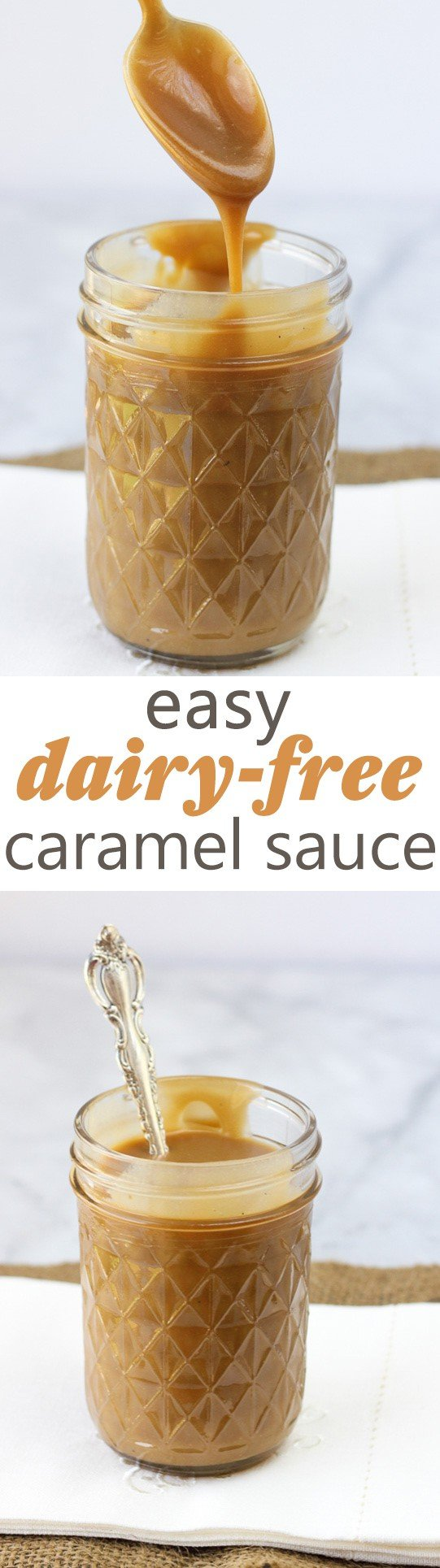 Easy, Dairy-Free Caramel Sauce! Refined-Sugar-Free, Paleo and so easy to make!