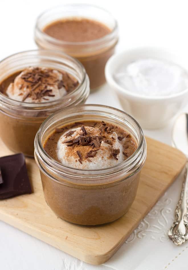 Chocolate Chia Seed Custard! A healthy, creamy breakfast treat! (Dairy-Free, Paleo, Gluten-Free)