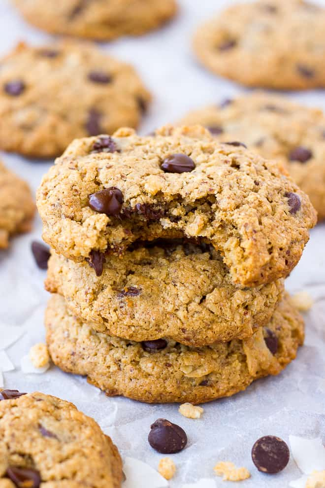 Oatmeal Almond Flour Cowboy Cookies {Gluten-Free} | Meaningful Eats