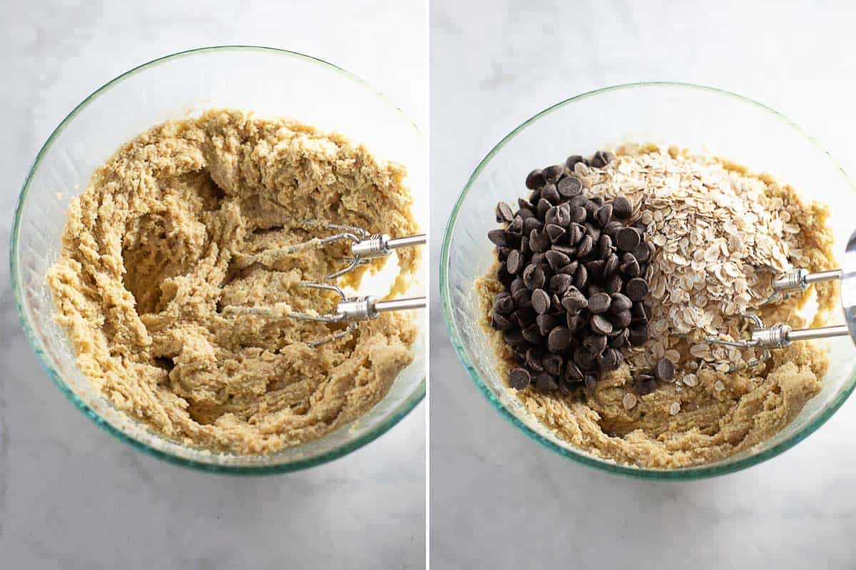 How to mix together almond flour cookie dough