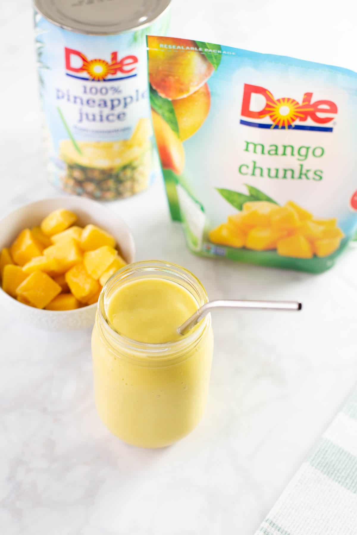 dole packaged ingredients used to make smoothie