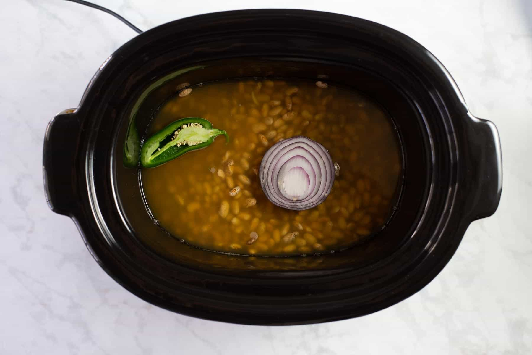 making Mexican beans in a crock pot