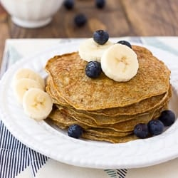 Banana Egg Almond Butter Pancakes
