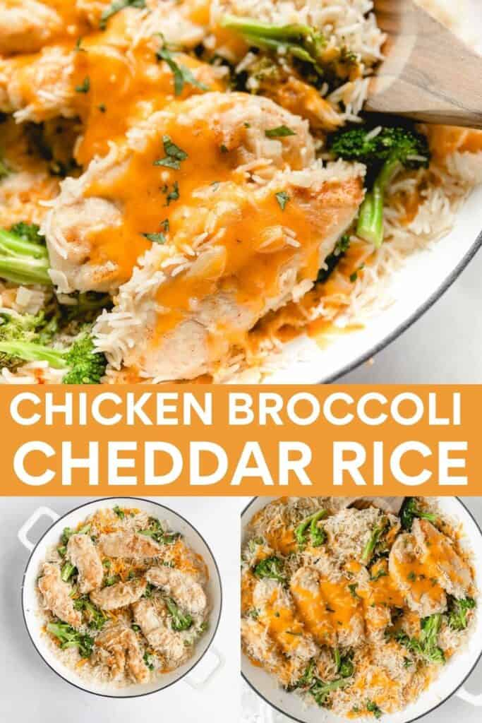 image for pinterest of how to make gluten free chicken and rice