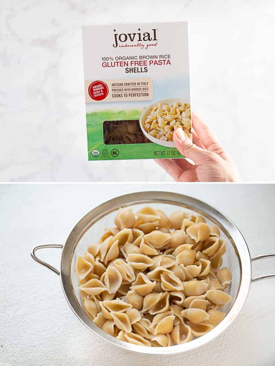 gluten-free shell pasta for minestrone soup