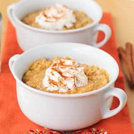 Pumpkin Sweet Brown Rice Pudding