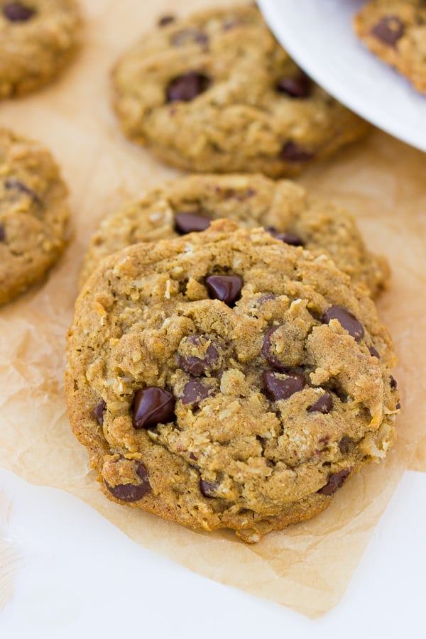 The Best Gluten-Free Oatmeal Chocolate Chip Cookies! Chewy and delicious with nothing but rave reviews!