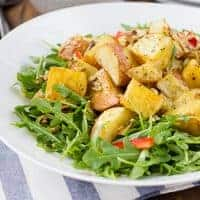 Roasted Potato Salad with Mustard Vinaigrette