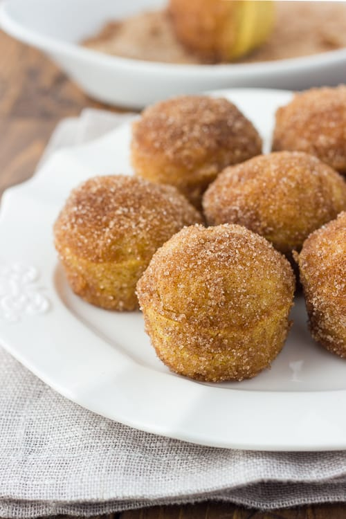 Gluten-Free Cinnamon Sugar Brown Butter Breakfast Puffs! They taste like mini donuts and are so easy to make!