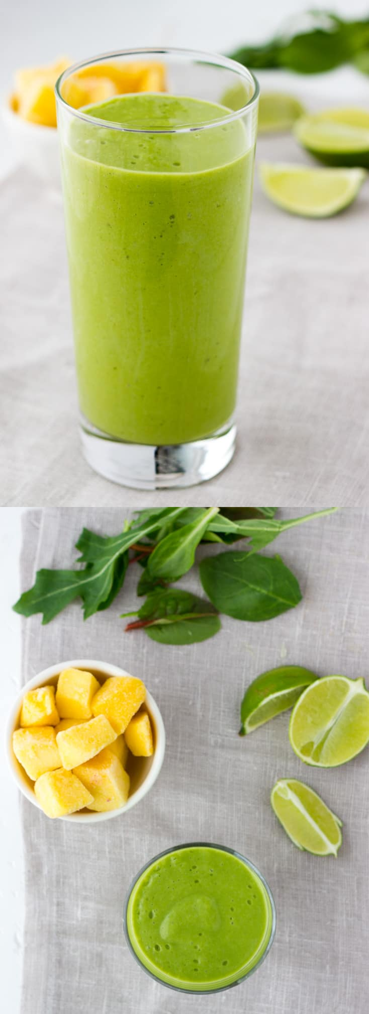 Coconut Lime Green Smoothie! A refreshing, creamy and citrusy green smoothie with a hint of tart. Full of good fats!