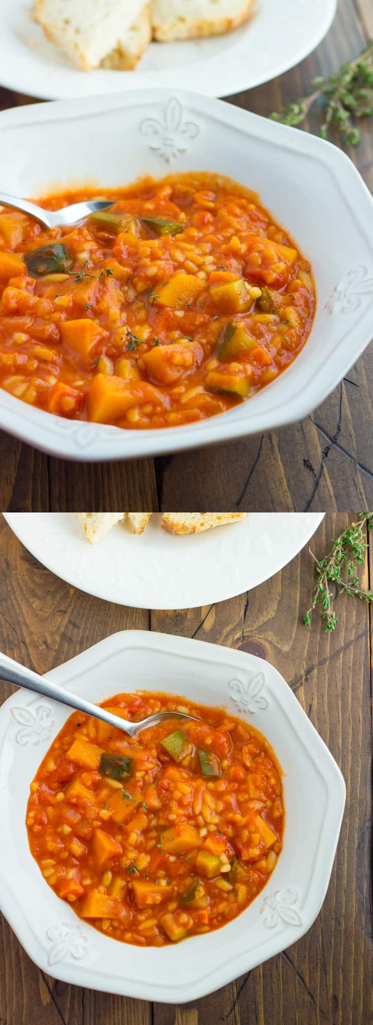Winter Vegetable and Orzo Soup! Easy, comforting, and full of hearty vegetables. {Gluten-Free, Dairy-Free}
