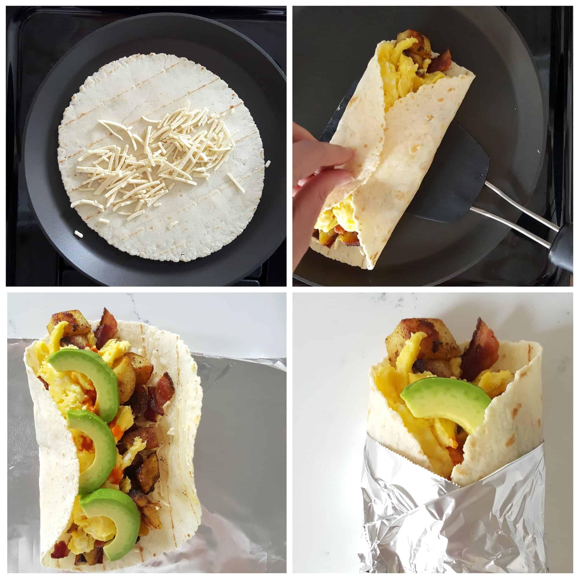 how to wrap gluten-free breakfast burritos