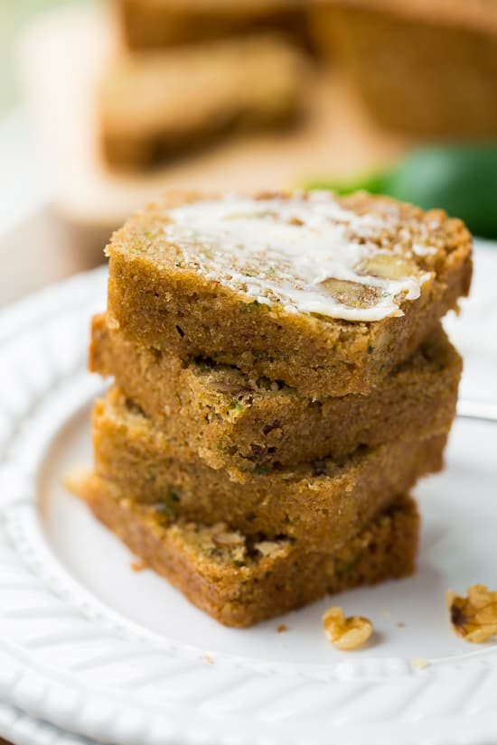 Gluten-Free Zucchini Bread! Lightly sweet, spiced and made with a wholesome grain-free flour blend. {Dairy-Free}