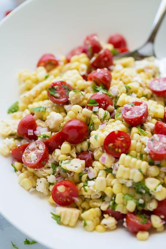 Summer Corn, Tomato & Feta Salad - Meaningful Eats