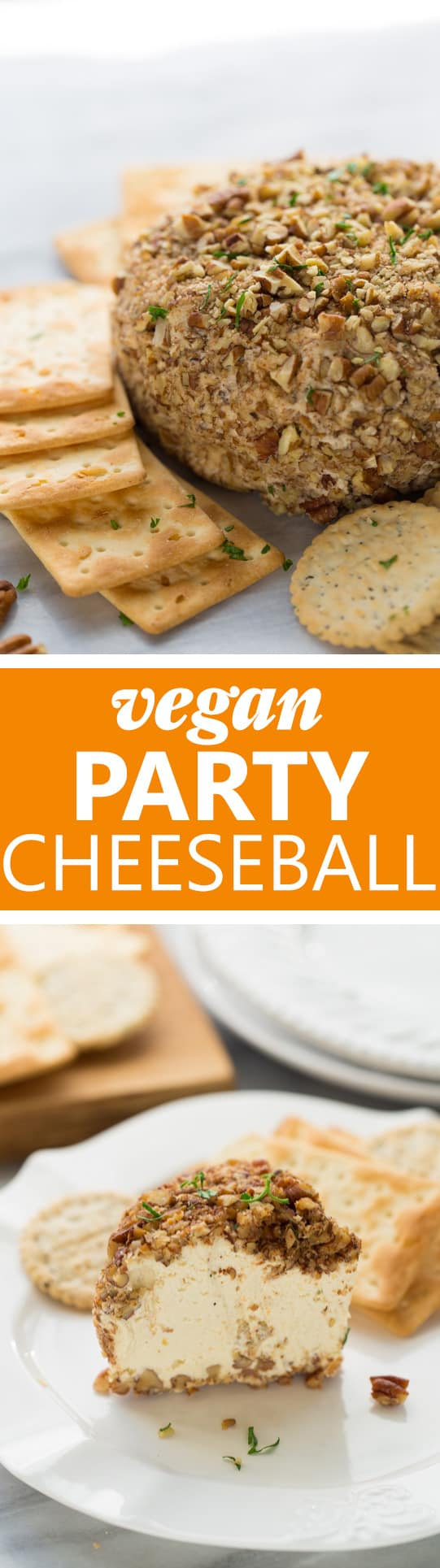 Vegan Party Cheeseball! So flavorful and crowd-pleasing you'd never guess it's vegan!
