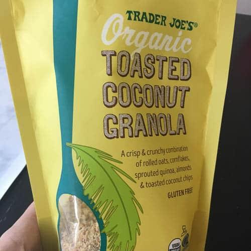 bag of gluten-free granola