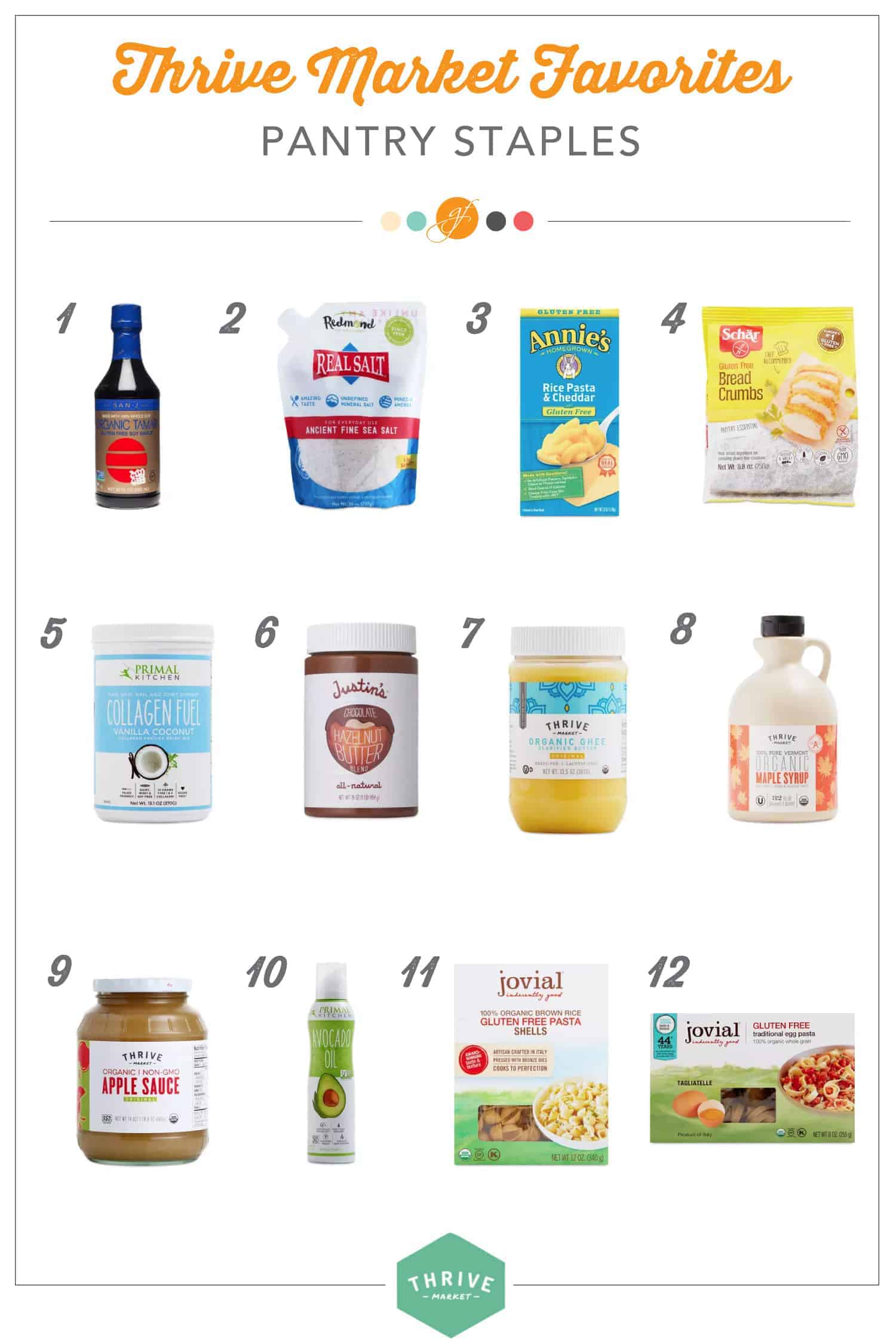 pantry staples from Thrive Market