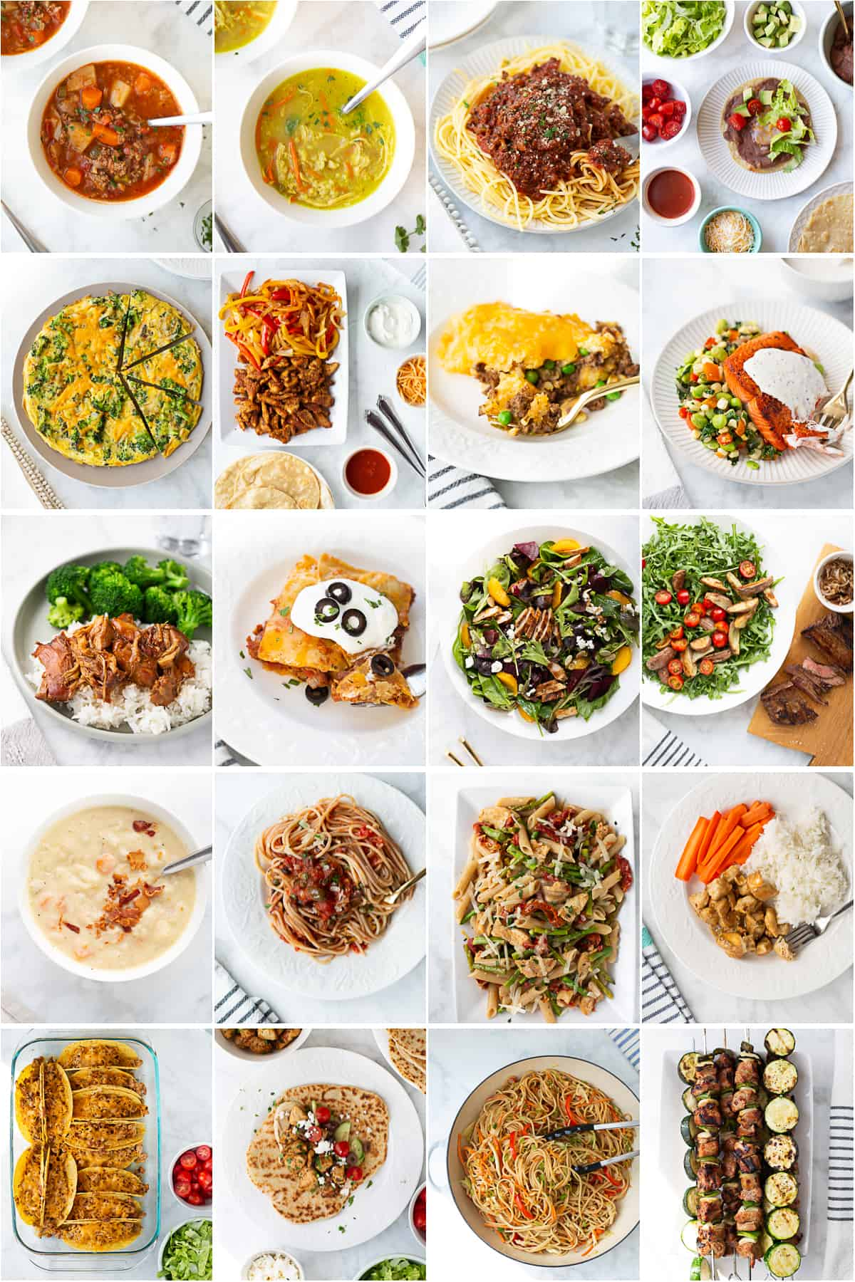 collage of recipes in ebook