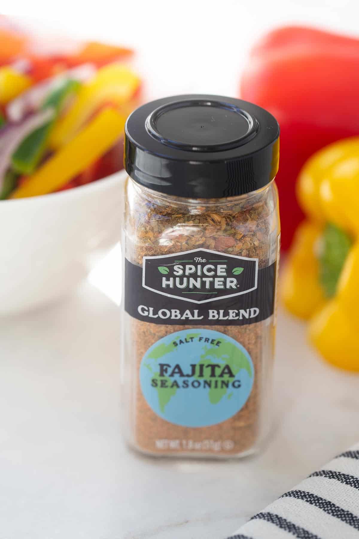 close up shot of the spice hunter fajita seasoning