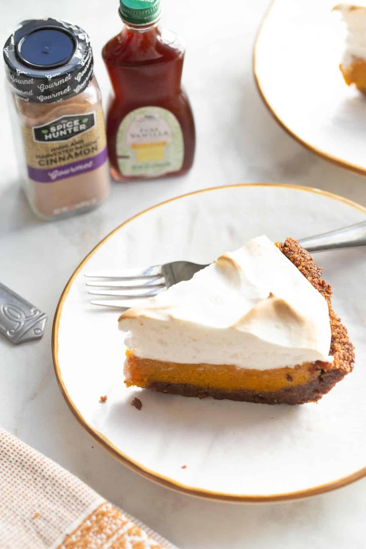 sweet potato pie on plate