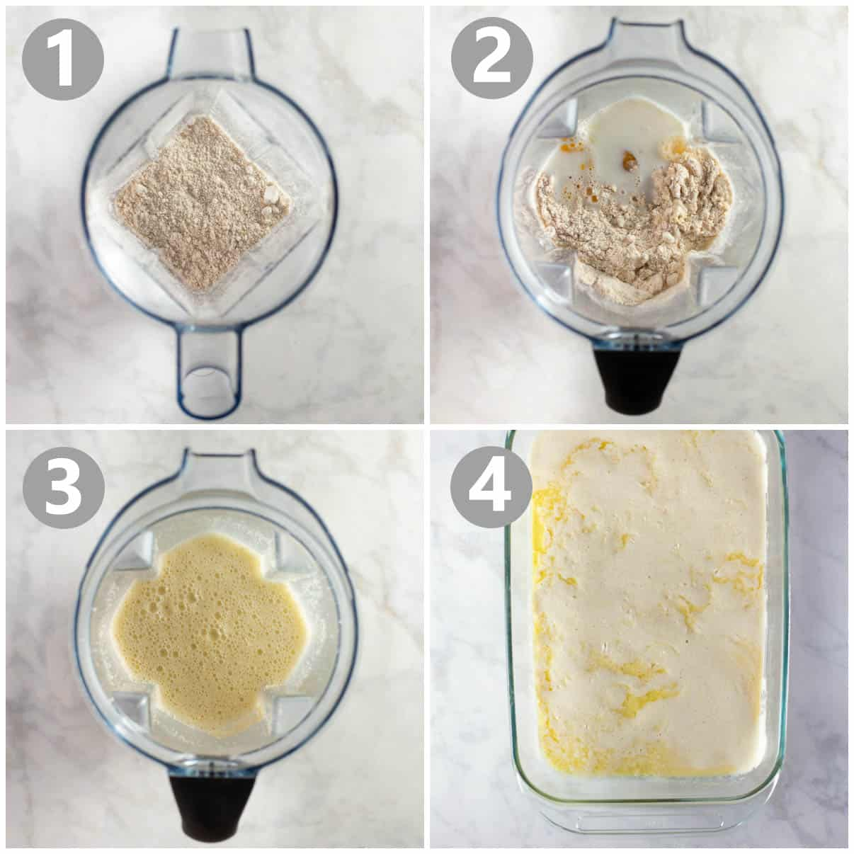 step by step photos of how to make a german pancake