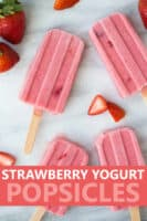 image for pinterest of strawberry popsicles