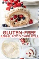image for pinterest of gluten-free cake roll photo collage