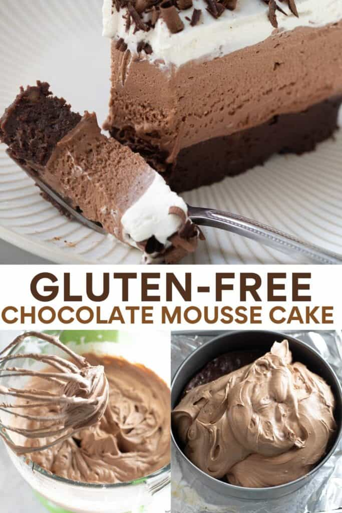 image for pinterest of how to make chocolate mousse cake