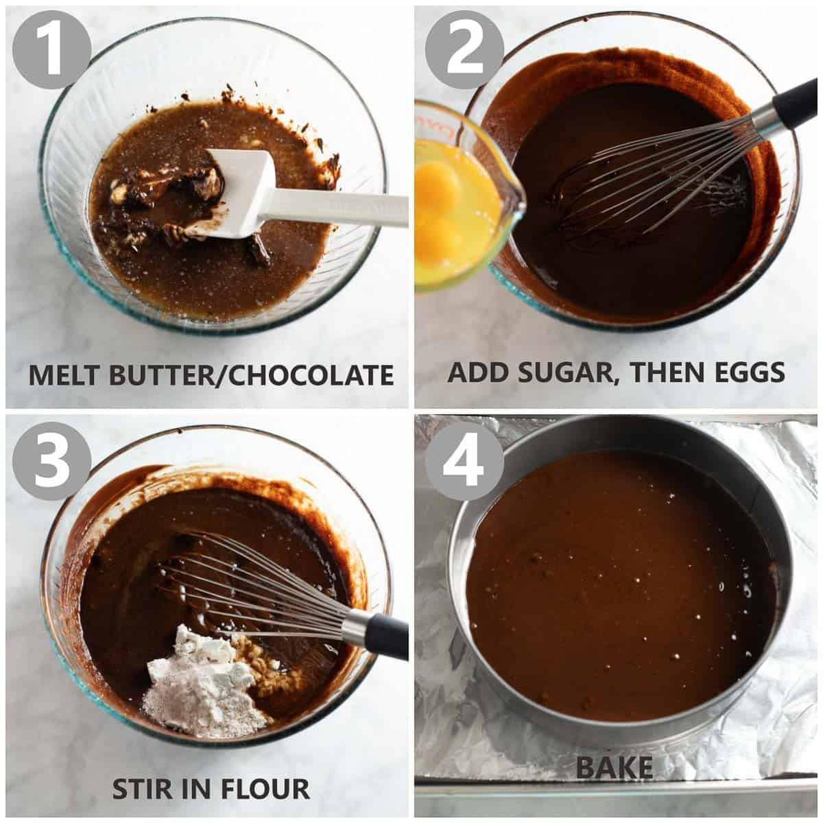 step by step photos of how to make chocolate cake base