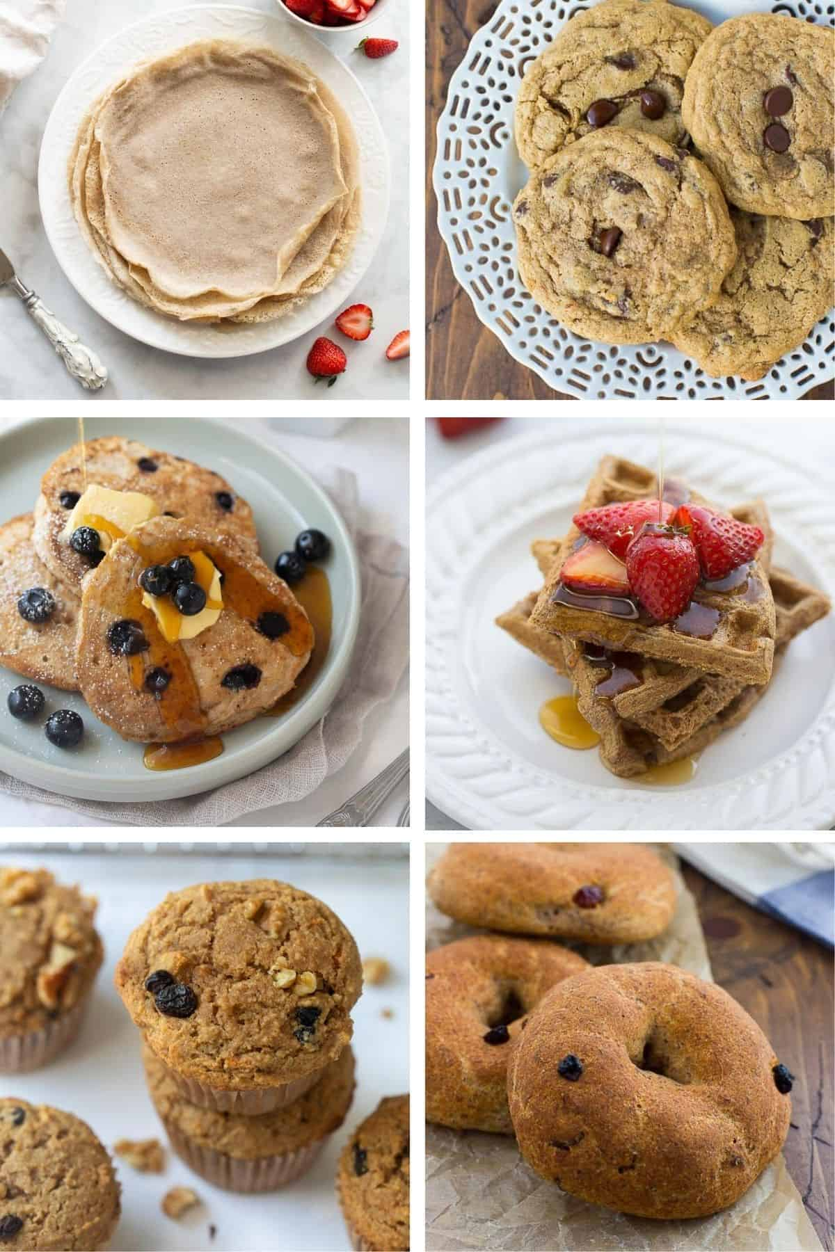 collage of buckwheat recipes