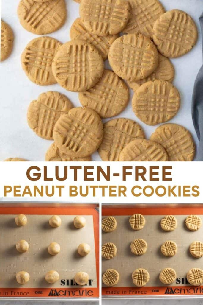 image for pinterest of collage of how to make peanut butter cookies