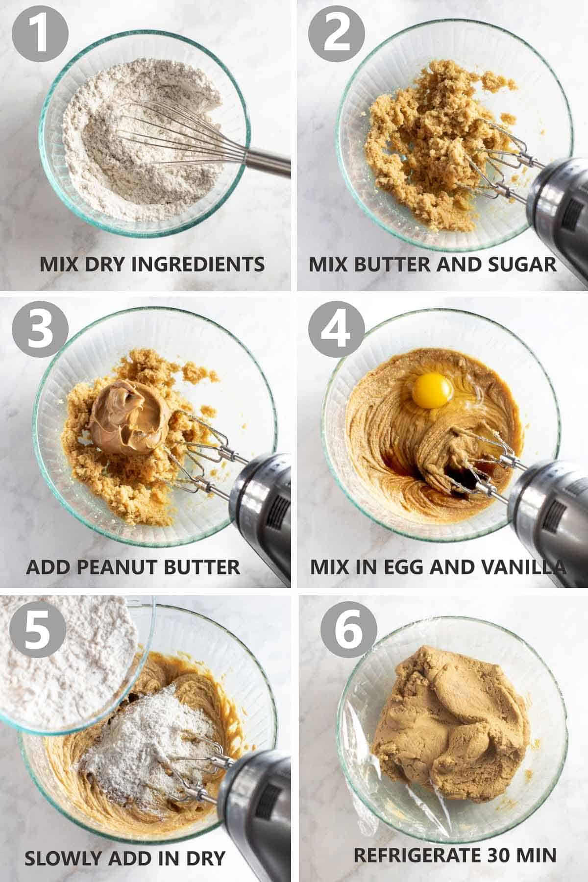 step by step photos of how to make peanut butter cookies