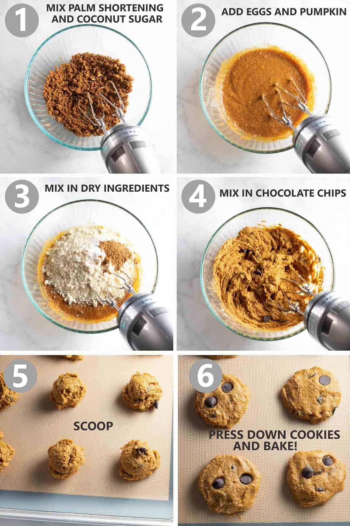 step by step cookies of how to make the cookies in collage