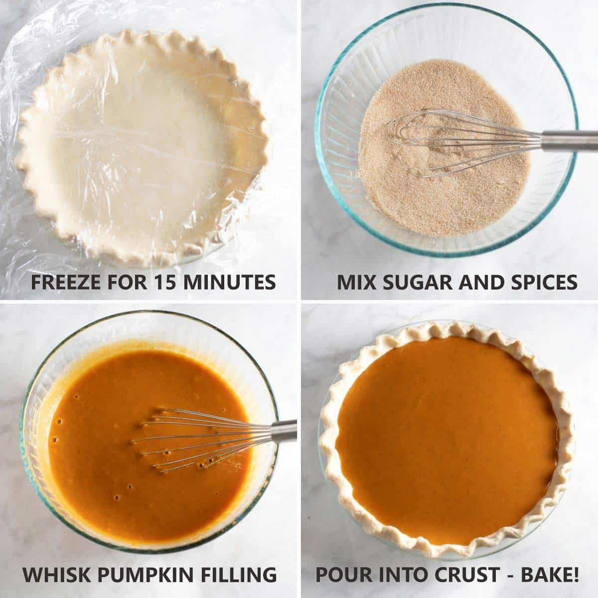 how to fill prepared crust with pumpkin pie filling