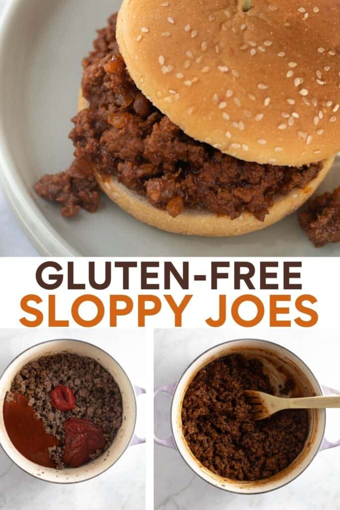 image for pinterest of how to make sloppy joes collage