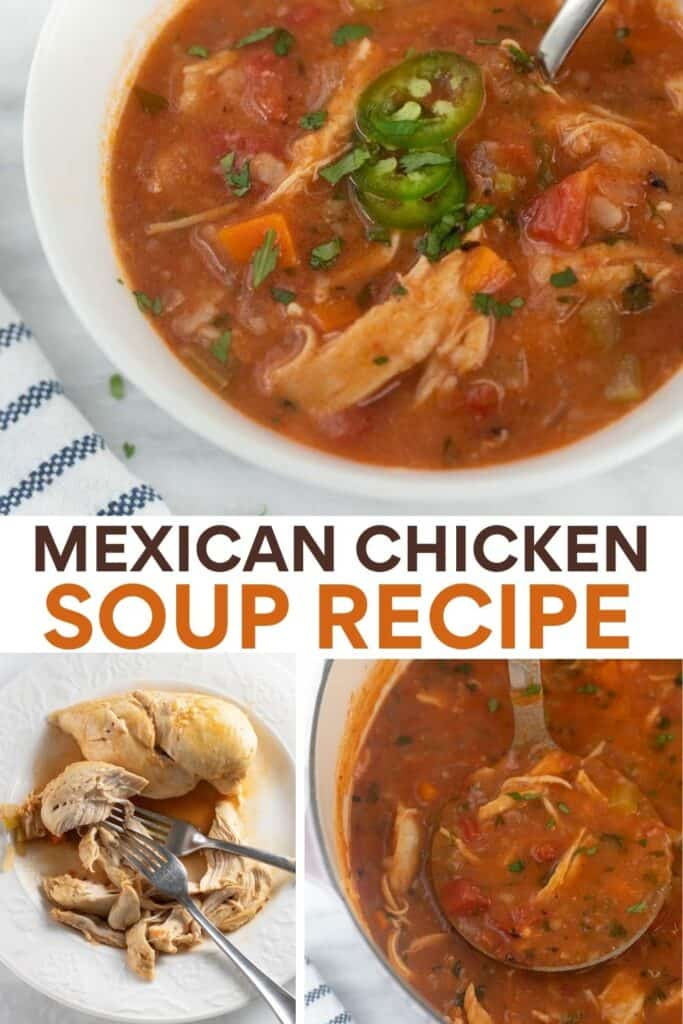 image for pinterest of collage of steps of how to make the soup