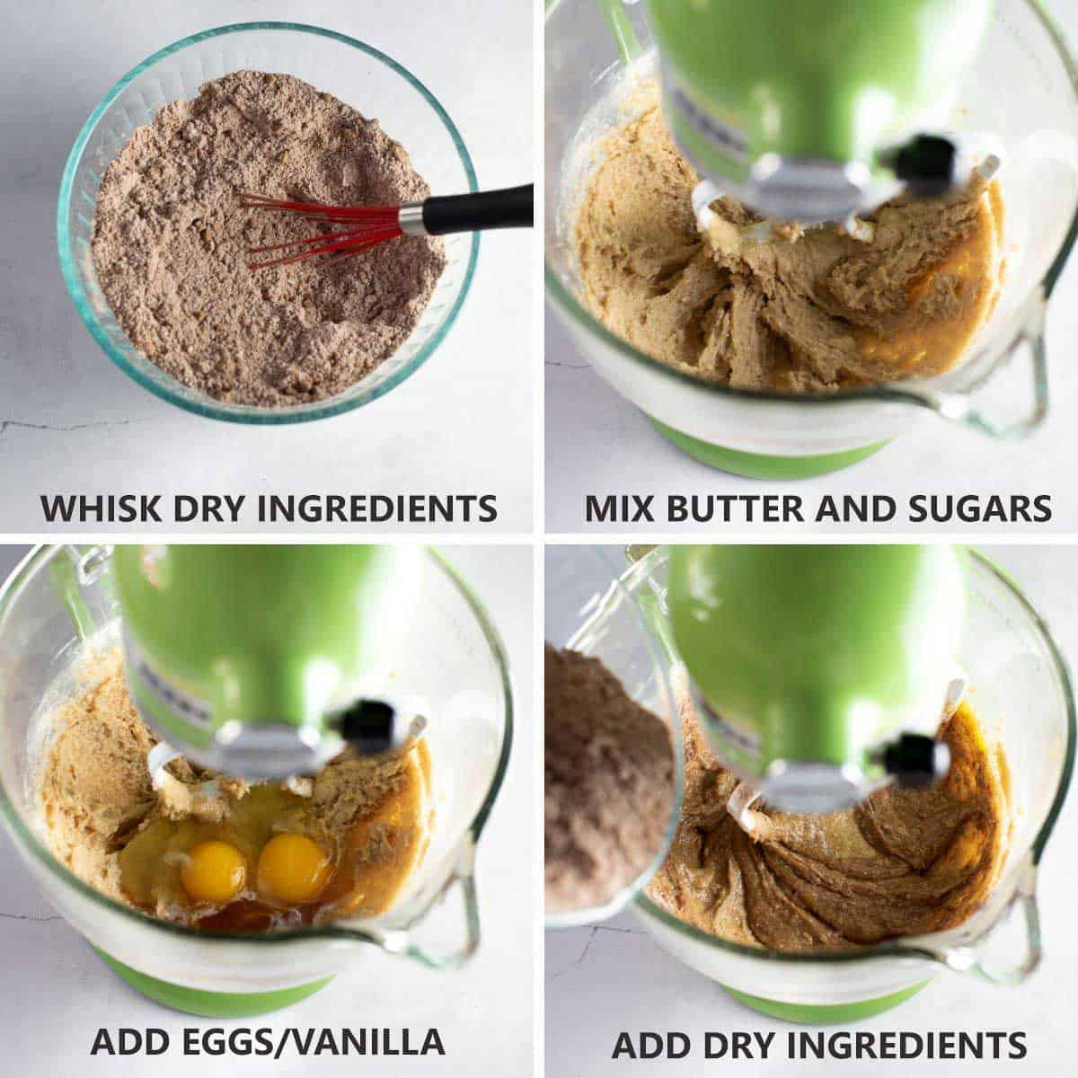 how to make the mint chocolate cookie dough