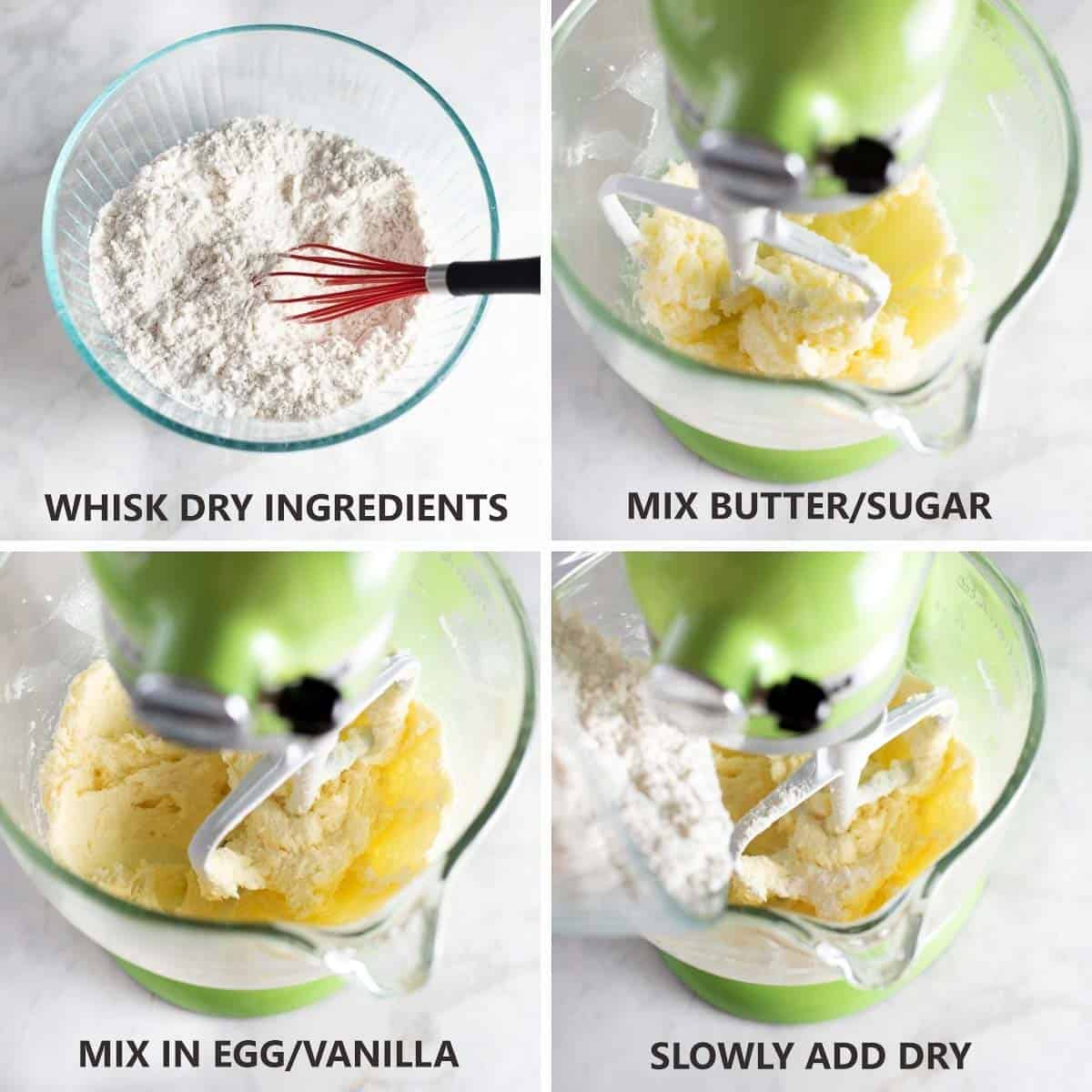 how to mix together the cookie dough in stand mixer